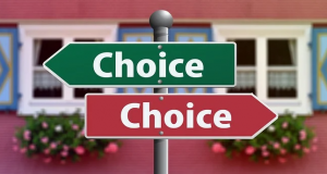 choosing between 2 choices