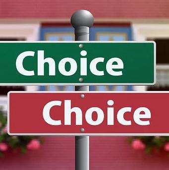 choosing between 2 choices